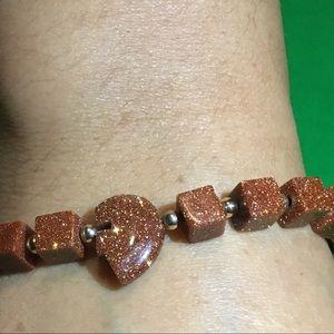 Hand beaded Native Bear bracelet